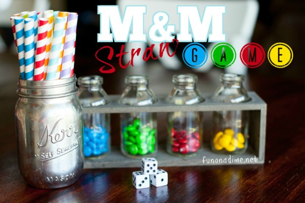 Fun M&M Straw Game - family game