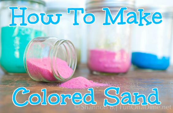 How To Make Colored Sand With Chalk