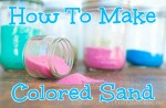How to make colored sand - salt and chalkHomemade Sand with salt and chalk