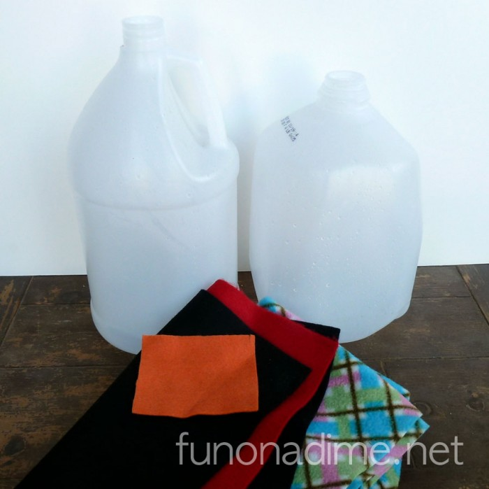 Milk and/or Vinegar Jug Snowman Lantern