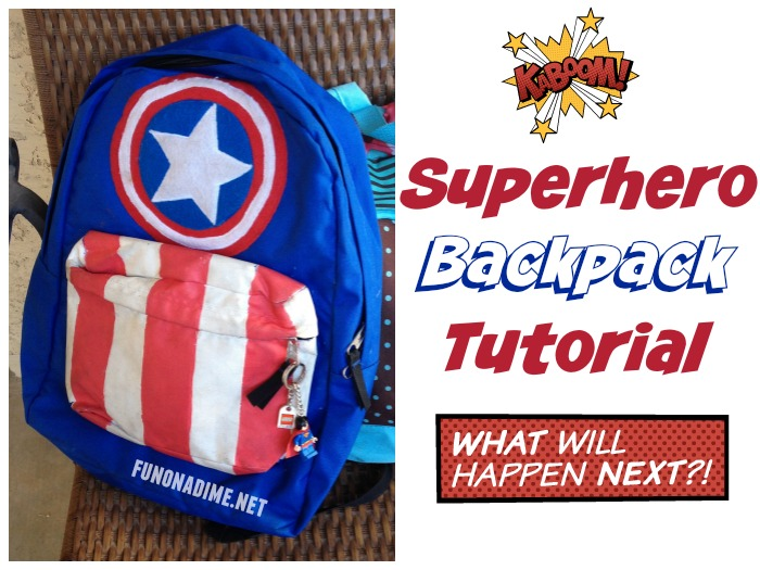 Superhero backpack tutorial