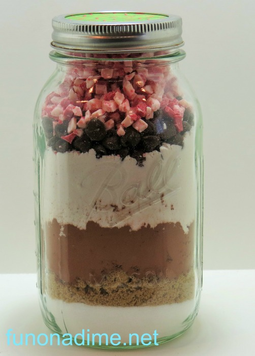 peppermint Chocolate jar cookies - 12 Days of Christmas Treats