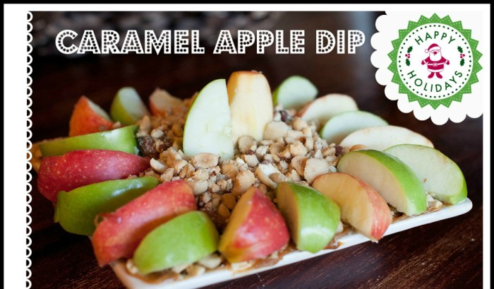 Quick Holiday Apple Caramel Dip + FREE Printable