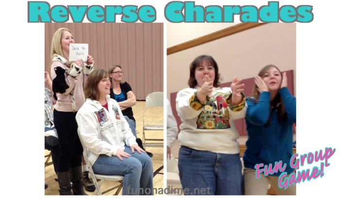 Reverse Charades – Group Games