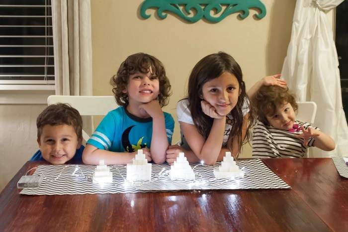 Family night ideas! How about sugar cubes temples