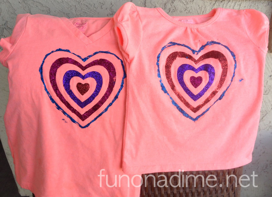 Glitter Heart T-shirt - Cute Valentine's Day Shirt Idea but cute year round too!