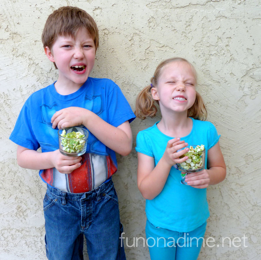 Corn Syrup Free St. Patrick's Day Green Popcorn Treat …I knew there was a way to have a healthier popcorn ball styled popcorn treat!
