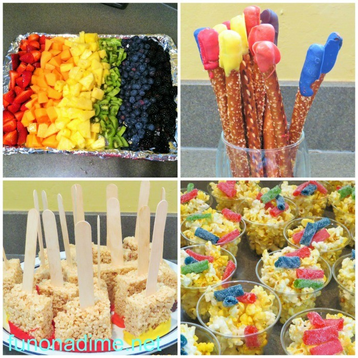 rainbow art party food