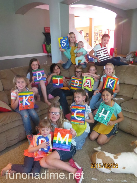 rainbow art party project