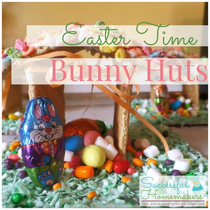 Easter Time Bunny Huts - A different type of Easter Activity