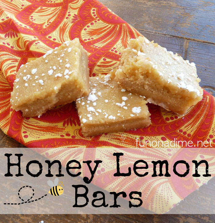 Honey Lemon Bars - cooking with essential oilsHoney Lemon Bars