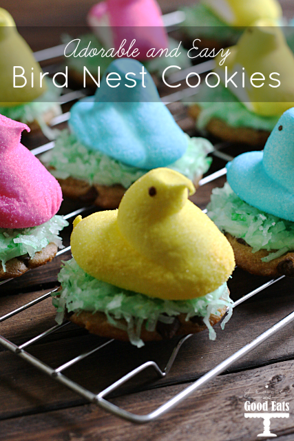 Adorable and Easy Bird Nest Cookies