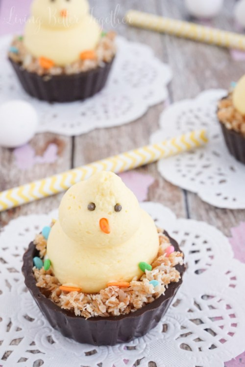 Easter Chick Mouse Cups