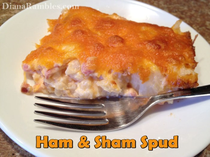 Ham Sham Spud Casserole - perfect for Easter ham leftovers
