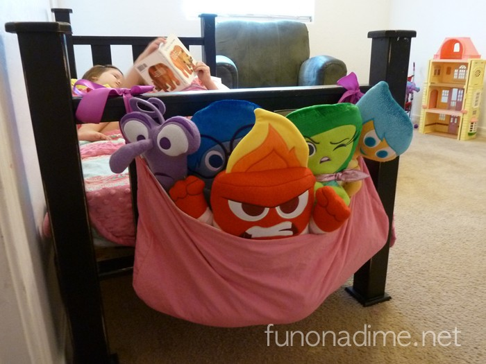 How to make a reversible end of crib toy bag tutorial