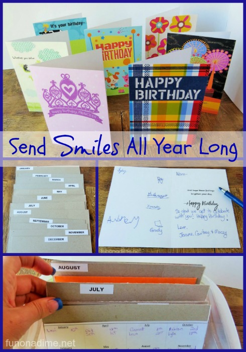 Never miss a birthday again! Make an organizer and #sendsmiles all year long! #ad
