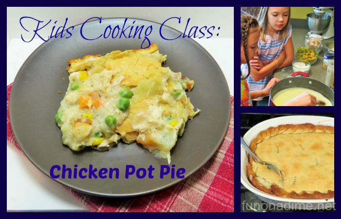 Get the kids in the kitchen and teach them this delicous easy recipe! Kids Cooking Club Chicken Pot Pie #SwansonSummer #Ad