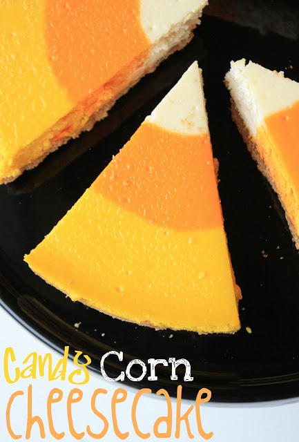 50+ Candy Corn Halloween Inspired Treats and Snacks cheesecake