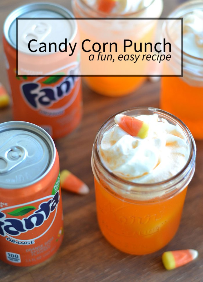 50+ Candy Corn Halloween Inspired Treats and Snacks - punch