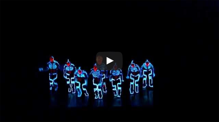 Amazing Tron Dance - Wrecking Orchestra - Fun Action Video
