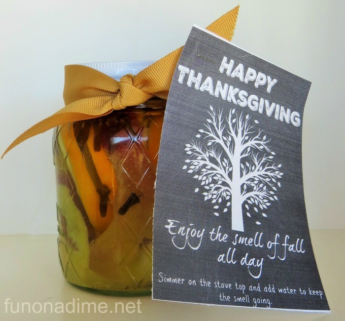 Mason jar gift and free printable