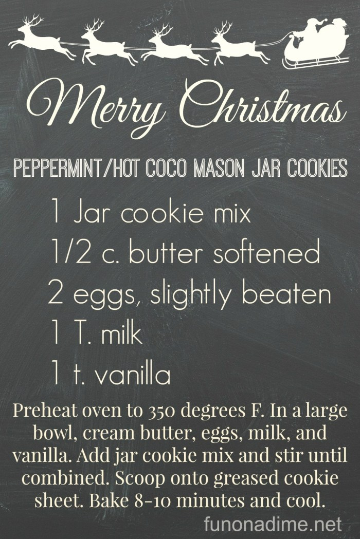 PeppermintHot Coco Mason Jar Cookies