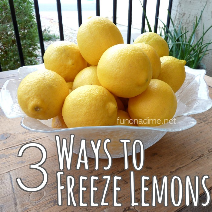 3 ways to freeze lemons and keep them longer