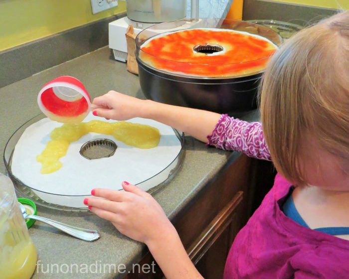 kids cooking activity fruit leather
