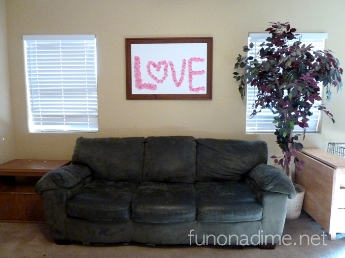 Valentine's Easy Love Board Decor
