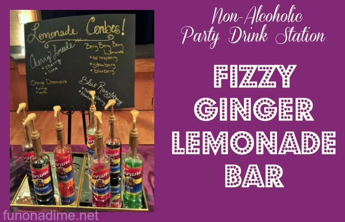 Non-Alcoholic Drink Station {Fizzy Ginger Lemonade}