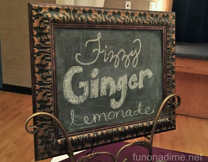 fizzy ginger lemonade party drink station