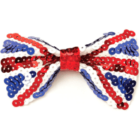Union Jack Sequin Bow Tie - Fun Party Supplies