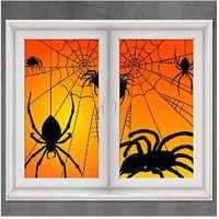 Halloween Spider Window Decorations