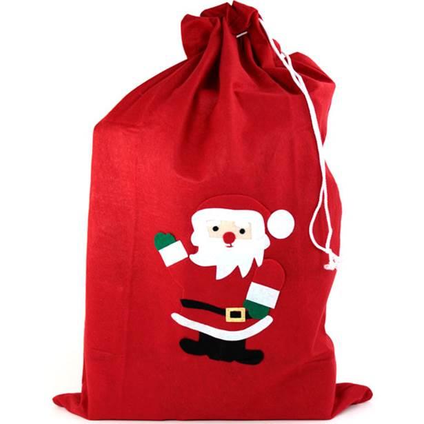 christmas santa sack red