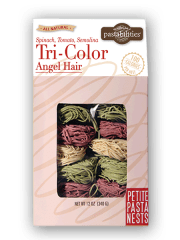 angel hair pasta tri color