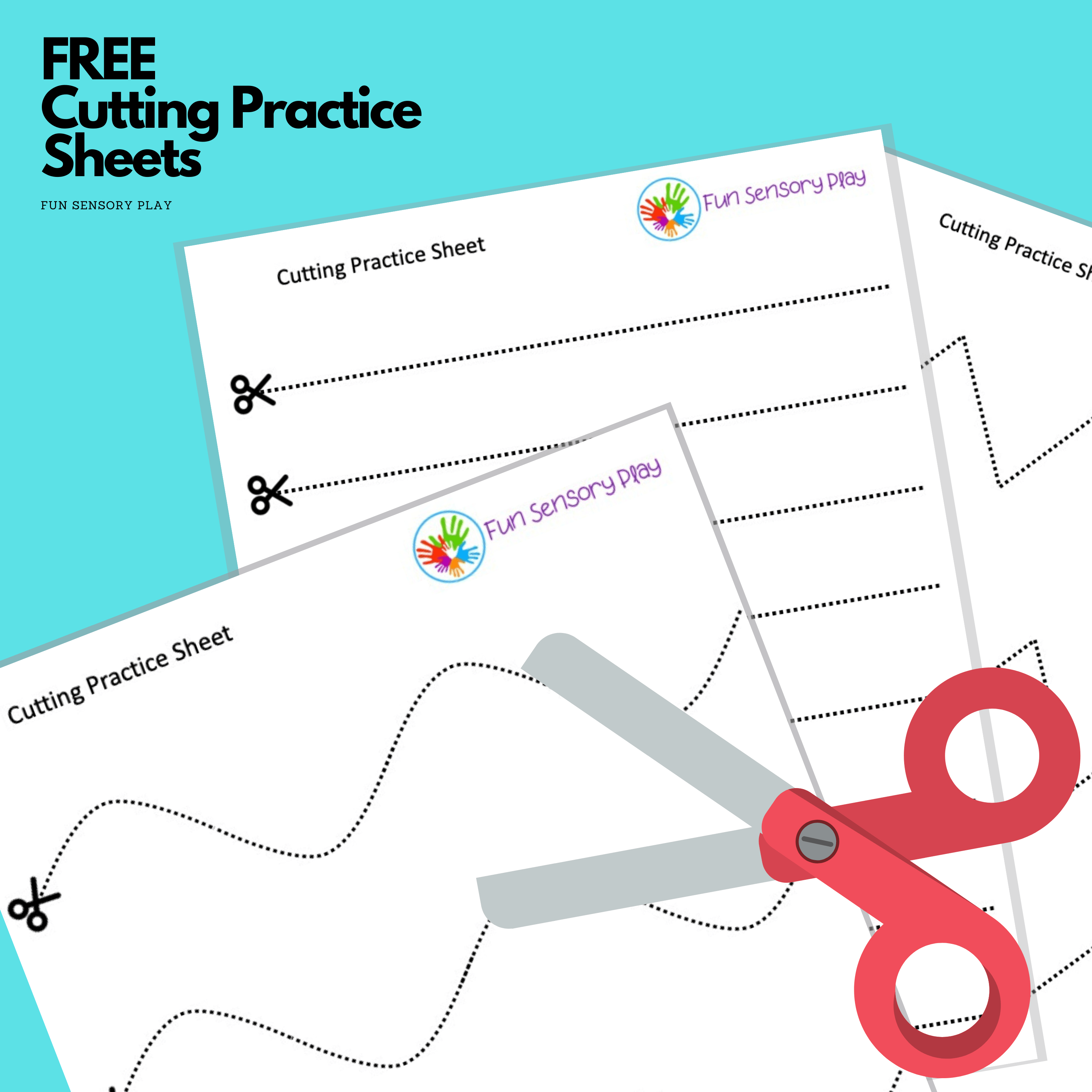 Free Cutting Practice Worksheets For Toddlers And