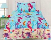 Mermaids Comforter Set Quilt Doona Girls Mermaid Bedding ...