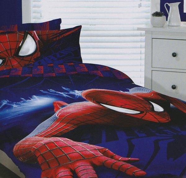 Spider-man Quilt Doona Duvet Cover Set Boys Bedding Kids