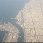 Dubai und Creek aus Sicht der Vogelperspektive