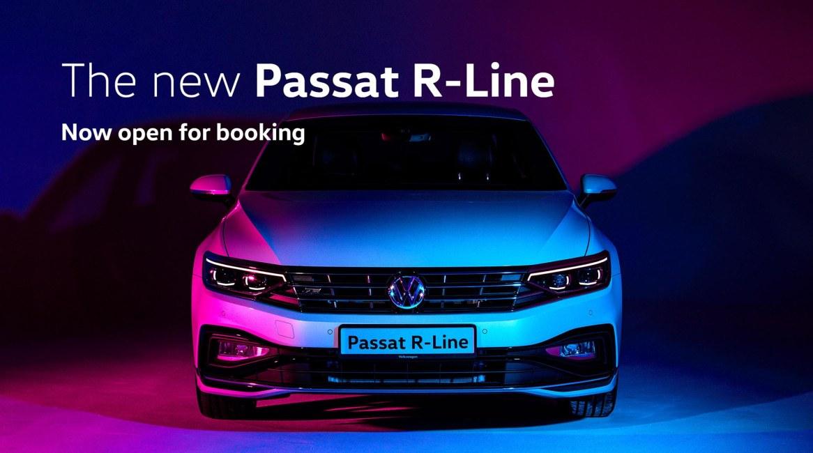 Volkswagen Passat R-Line now open for booking