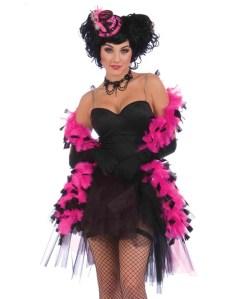 Burlesque boa black & pink
