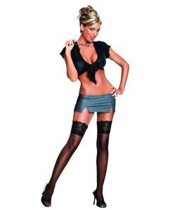 2 pc very private secretary top & skirt black