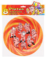 Mr. & mrs. claus dancing naked plates - bag of 8