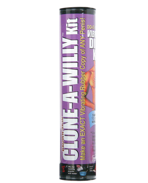 Clone-A-Willy Kit - Brown Skin Vibrating