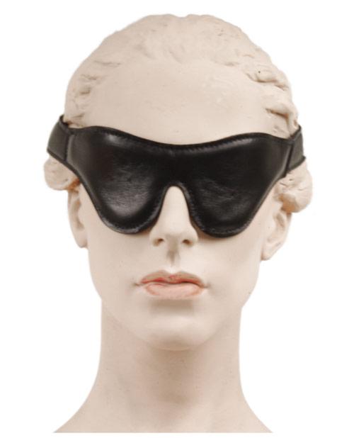 Sportsheets Leather Blindfold - Black
