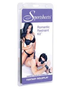 Sportsheets Romantic Restraint Kit - Black