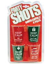 Party Shots Keep Calm Holiday Sayings