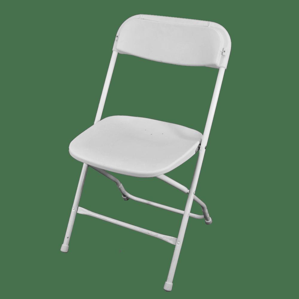 Fun Time Entertainment White Folding Chairs  Fun Time