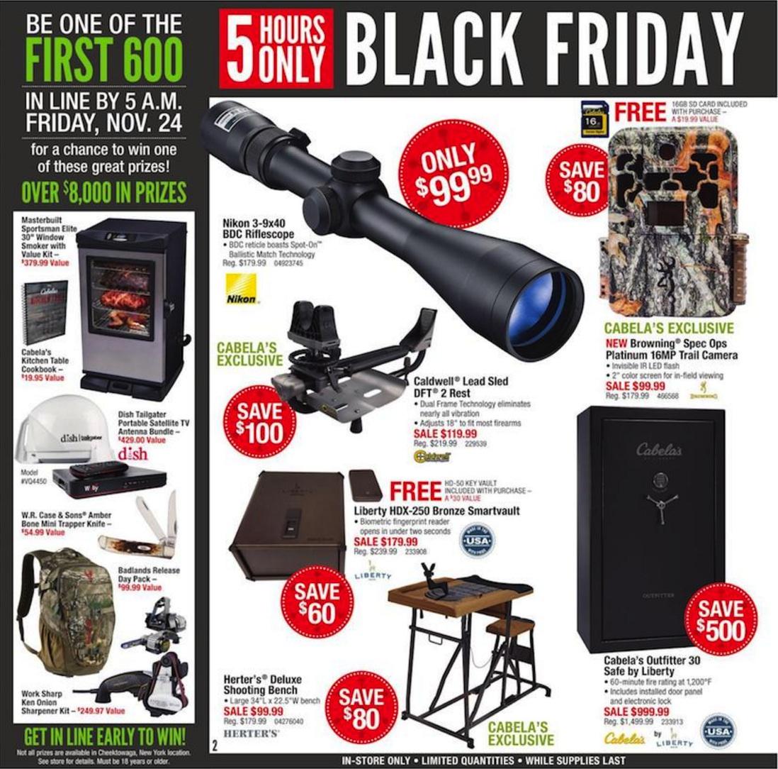 Cabelas Black Friday Ad Deals 2018  Funtober