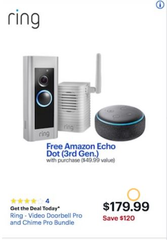 ring doorbell for sale uk domestic electrical wiring diagram symbols best cyber monday 2018 black friday deals funtober the on during last were offers it 99 we expect there will be even better this year as amazon